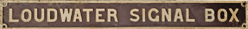 Arch Laser G.W.R. Type Signal Box Nameboards (OO)